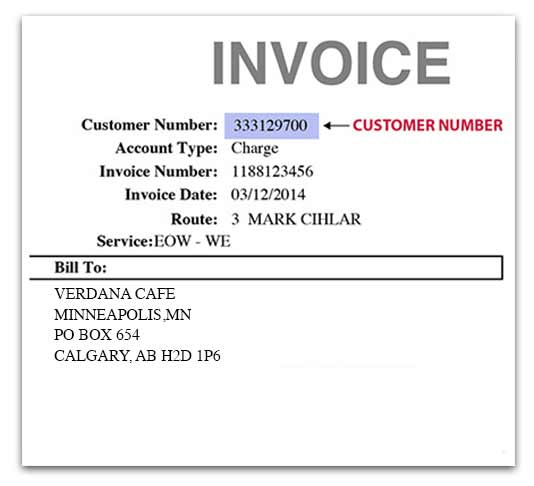 Invoice Customer Number